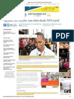 Agusan Sur Mayor, Son Shot Dead; NPA Eyed _ Inquirer News