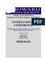 Conference Program Howard University Updated November 2015