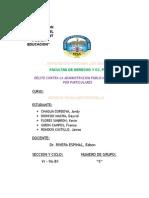 DELITOS CONTRA LA ADMINISTRACIÓN PUBLICA POR PARTICULARES