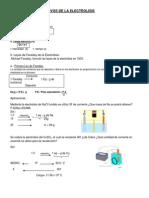 Aspectos Cuantiativos de La Electrolisis