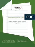Principales Procesos Fisiologicos Vegetales