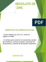 Policarboxilato de Zinc