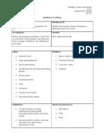 Audience Profile Sheet