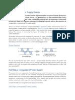 Unregulated Power Supply Design
