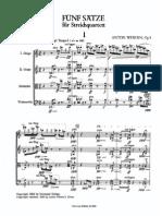 Op. 5 - Fünf Sätze Für Streichquartett