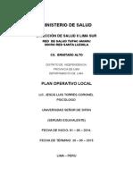 Plan Operativo Ermitaño Alto