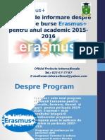 15 Octombrie Erasmus Prezentare