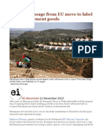 The Real Message From EU Move to Label Israeli Settlement Goods