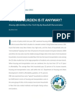 Report on NYC rent burden
