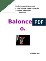 Trabajo de Baloncesto