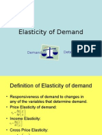 Elasticity of Demand 1