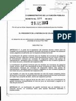 Decreto 1390 Del 28 de Junio de 2013