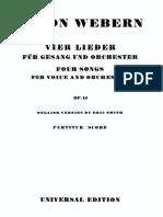 Op. 13 - Vier Lieder Für Gesang Und Orchester