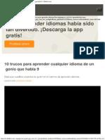 10 Trucos Para Aprender Cualquier Idioma de Un Genio Que Habla 9 - Babbel.com