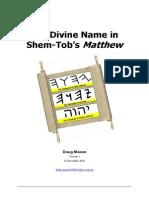 The Divine Name in Shem-Tobs Matthew