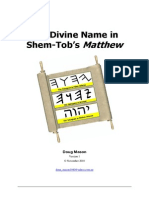 The Divine Name in Shem-Tobs Matthew