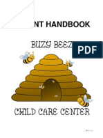 Buzy Beez Child Care Center Parent Handbook