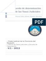 Protocolo de Tasas Judiciales