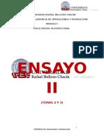 ENSAYO II