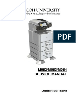 Ricoh 5200 SP Service manual | Image Scanner | Battery