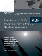 Japan-U.S. Partnership Toward a World Free of Nuclear
