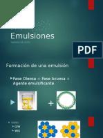 Emulsiones Tamaño de Gota