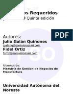 Procesos y Gestion de Manufactura Pso