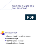 Technological Change and Industrial Relations