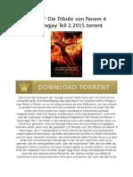 #ç!ñ&^ Die Tribute von Panem 4 Mockingjay Teil 2.2015.torrent