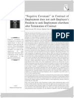 Bonds in Employment-negative Covenant in Contract of Employment (1)