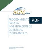 Procedimiento para la investigacion de querellas estudiantiles