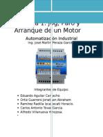 Practica 1. Automatización Idustrial paro y arranque de un motor