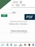 Reducción de La Frecuencia de Operación Cesarea