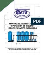 Manual Equipo Hidroneumatico Españolersd