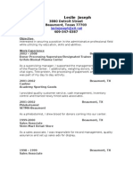 Jobswire.com Resume of lesliejoseph