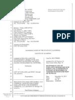 City Demurrer Oakland Coal Lawsuit