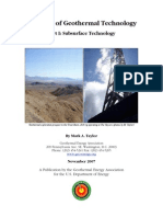 Geothermal Technology Part I - Subsurface Technology (Nov 2007)