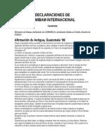 Declaraciones Varias Comibam Clade III Red Mm Pacto de Lausana