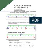Ejercicios de Análisis Estructural i