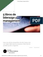 5 Libros de Liderazgo y Management _ Alto Nivel