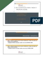 Inferencia Estadística. Medias y Proporciones