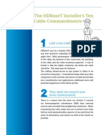 The HDBaseT Installer's Ten Cable Commandments