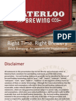 brick brewing investor presentation 2015 10  2