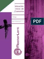 Celebración de Inicio de Cuaresma o Imposición de La Ceniza - CUARESMA 2014