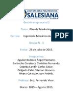 Plan de Marketing. Gestión Empresarial. Grupo 3.