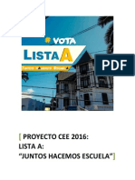 Proyecto CEE 2016 -Juntos Hacemos Escuela