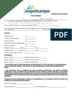 Domiciliación de Cuenta Asociado Externo 2015