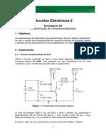CE2 Experimento 5 Caracterização TBJ