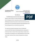 news release pdf