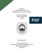 Proposal Permohonan Bantuan Pembangunan Talud Jalan Desa